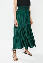 edit - Tiered peasant skirt - green