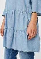 Vero Moda - Carola 3/4 chambray tunic - blue
