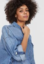 Vero Moda - Nova boxy denim jacket - blue
