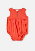 Cotton On - Craigelina singlet bubbysuit - orange