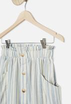 Free by Cotton On - Ava skirt - blue & neutral