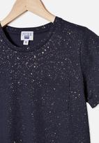 Free by Cotton On - Toni T-shirt sleeve dress - navy