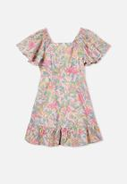 Free by Cotton On - Salma short sleeve dress - multi