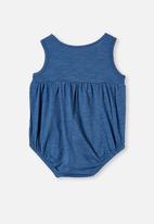 Cotton On - Craigelina singlet bubbysuit - blue