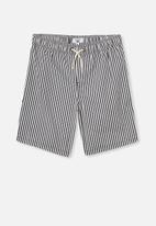 Free by Cotton On - Boys volly short - navy & white