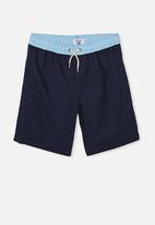 Free by Cotton On - Boys volly short - navy & blue