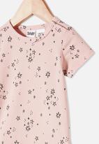 Cotton On - The short sleeve bubbysuit - pink
