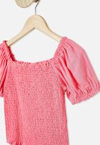 Free by Cotton On - Kate puff sleeve top - pink