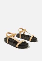 Cotton On - Malmo flatform sporty sandal  - camel