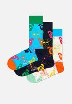 Happy Socks - 3 Pack mixed dog socks gift set - multi