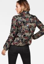 G-Star RAW - Strett padded jacket - smoke green & dark vermont green