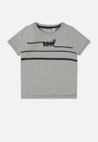 name it - Fabian short sleeve top - grey