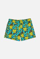 Happy Socks - Sponge bob yellow swim shorts - yellow & blue