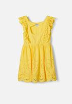 name it - Broderie anglaise dress - yellow