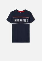name it - Dax short sleeve top - navy