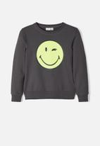 name it - Happy tiks long sleeve sweat - charcoal