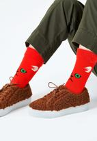 Happy Socks - Hairy animal sock - red