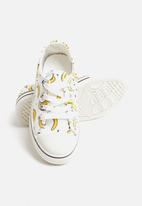 POP CANDY - Girls banana print sneaker - white