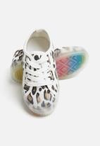 POP CANDY - Girls animal print sneaker - white