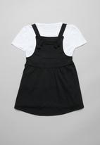 POP CANDY - Pinafore and tee set - black & white