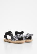 POP CANDY - Girls bow sandal - black & white