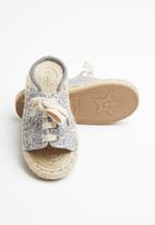POP CANDY - Girls espadrille sandal - silver