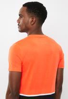 Superdry. - Core blocked tee - orange & black