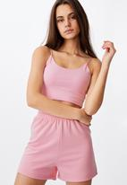 Factorie - Elastic strap tank - babe pink