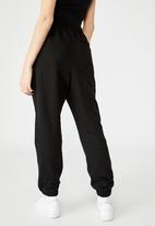 Factorie - Super high rise trackpant - black
