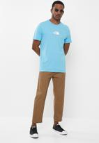 The North Face - Short sleeve fine alpine equipment tee - ethereal blue