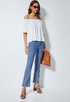 Superbalist - Basic off the shoulder blouse - white