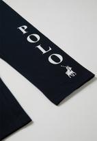 POLO - Girls chloe cropped legging - navy