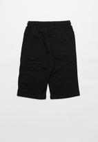 Rebel Republic - Boys styled sweatshorts - black & grey