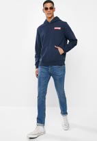 Levi's® - T3 graphic boxtab fleece hoodie - blue