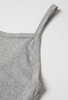 Superbalist - Cami & shorts pj set - grey melange & blue