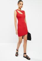 Blake - Bodycon mini dress  with cutout -  red
