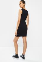 Blake - Bodycon mini dress  with cutout - black