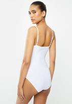 Blake - Cami bodysuit with ruched front detail-ivory
