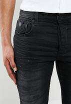 S.P.C.C. - Basquiat premium feather jeans - black