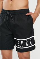 S.P.C.C. - Pennant fashion swim shorts - black