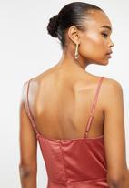 MILLA - Satin wrap dress - pink