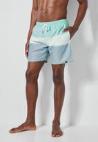 Superbalist - Baja swimshort - blue & white