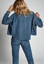 Cotton On - Drop shoulder batwing shacket - blue