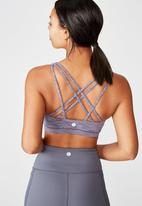 Cotton On - Strappy sports crop - purple