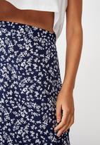 Cotton On - 90s Slip skirt - blue & white