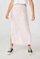 Cotton On - 90s Slip skirt - orchid