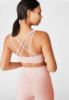 Cotton On - Strappy sports crop - pink