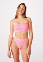 Cotton On - Seamfree rib bandeau - pink