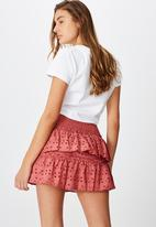 Cotton On - Ellie broderie mini skirt - pink