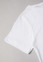 Rebel Republic - Girls printed crop top - white